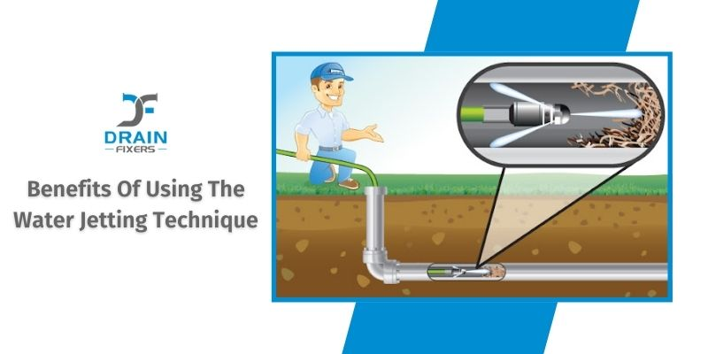 clearing a blocked drain pipe